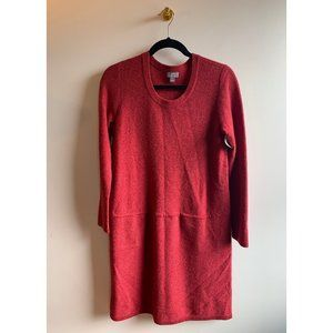 J. Jill Cashmere & Wool Red Sweater Dress